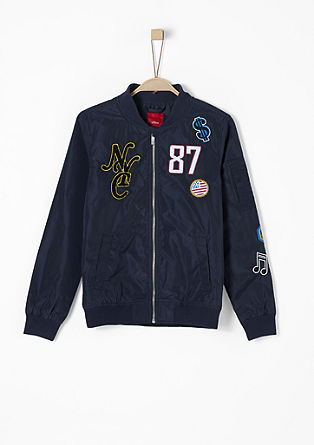 Bomber jacket with appliqués from s.Oliver