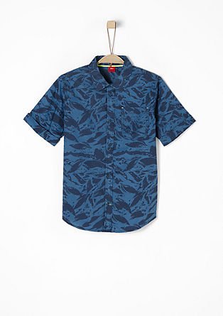 Slim: overhemd met camouflagemotief