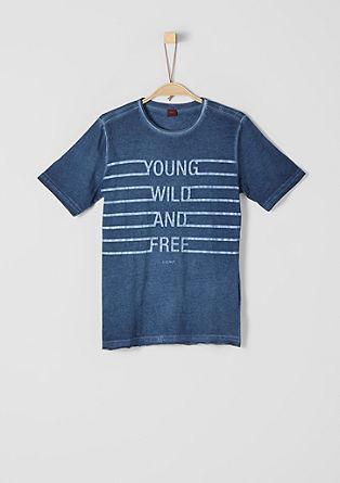 Printshirt mit Wascheffekt