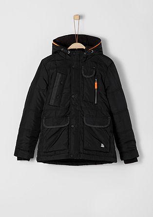 Winterjacke mit Neon-Details