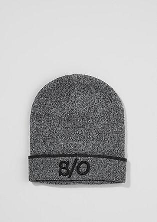 Melierte Mütze im Beanie-Look