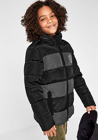 Functional winter jacket with stripes from s.Oliver