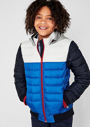 Trendy jas met capuchon van sweatstof