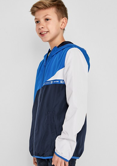 Windbreaker with colour blocking from s.Oliver