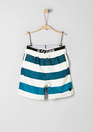 Striped swim shorts in a layered look from s.Oliver