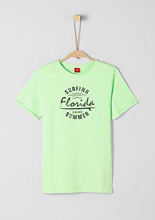 T-Shirt mit Surfing-Print