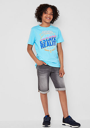 T-Shirt mit Statement-Print