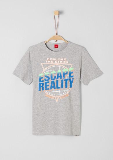 T-shirt animé d'une inscription imprimée de s.Oliver