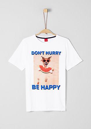 T-shirt met print en statement