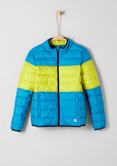 Quilted jacket with colour blocking from s.Oliver