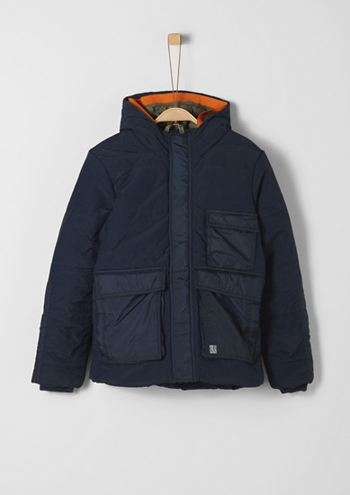 Puffer jacket with a double hood from s.Oliver