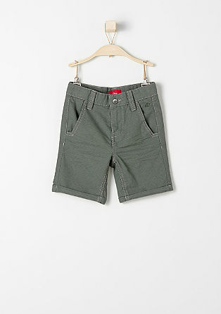 Chinos: Shorts with polka dots from s.Oliver