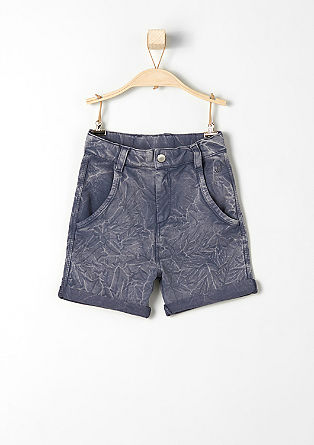 Sweatshirt shorts with a crinkled effect from s.Oliver