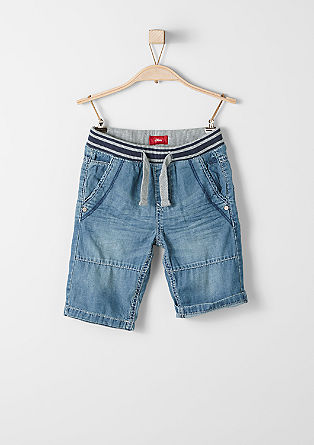 John: denim Bermudas with a ribbed waistband from s.Oliver