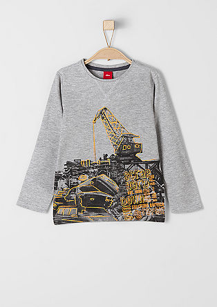 Long sleeve top with a car print from s.Oliver