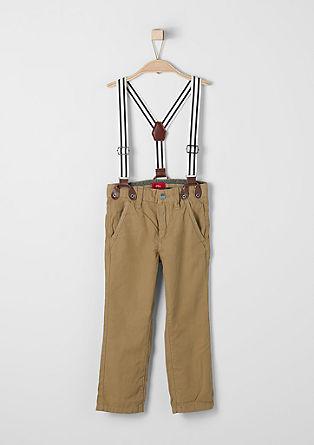 Chino: Leichte Hose mit Hosenträgern