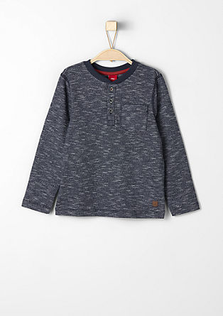 Meliertes Sweatshirt mit Stitchings