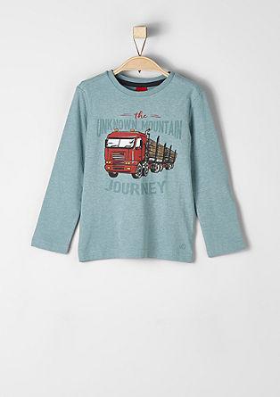 Langarmshirt mit Truck-Motiv