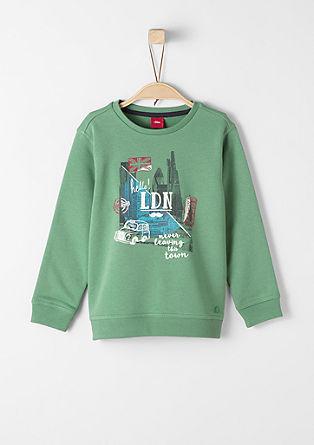 Sweatshirt mit London-Print