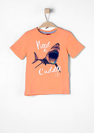 Shirt mit Hai-Print
