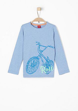 Longsleeve mit Biker-Print