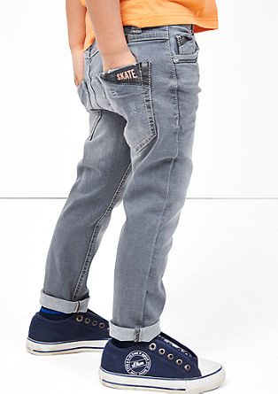 Pelle: grey stretch jeans from s.Oliver