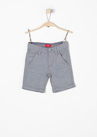 Pelle: Bermudas with a textured pattern from s.Oliver
