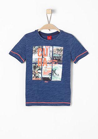Printshirt mit Neon-Details