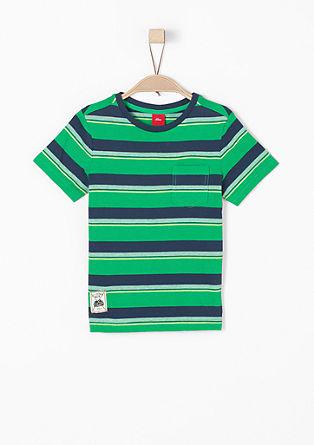 Majica iz džersija s črtastim vzorcem