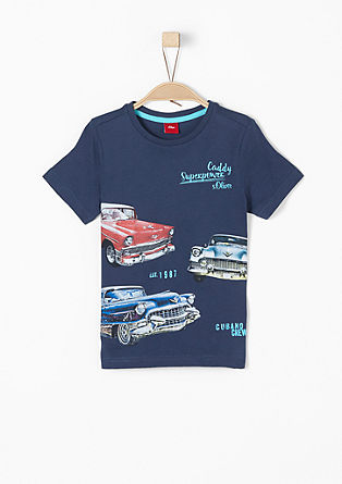 T-shirt with a vintage car print from s.Oliver