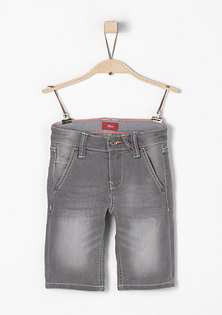 Pelle: Colored Denim-Bermuda