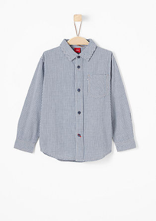 Shirt with a check pattern from s.Oliver