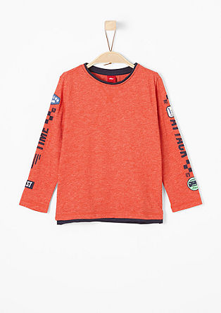 Marled long sleeve T-shirt from s.Oliver