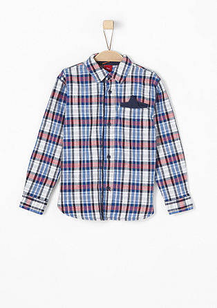 Multi-coloured check shirt from s.Oliver