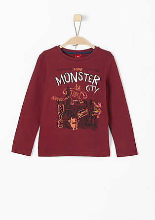 Long sleeve top with a monster print from s.Oliver