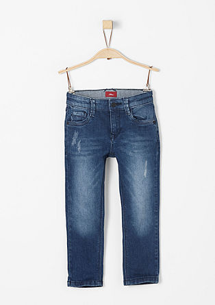 Pelle: blue stretchjeans