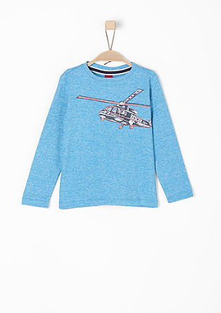 Long sleeve top with a helicopter print from s.Oliver