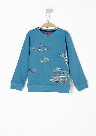 Sweater met een rubberen print