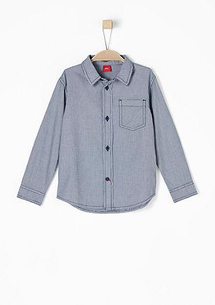 Leichtes Hemd im Pepita-Design