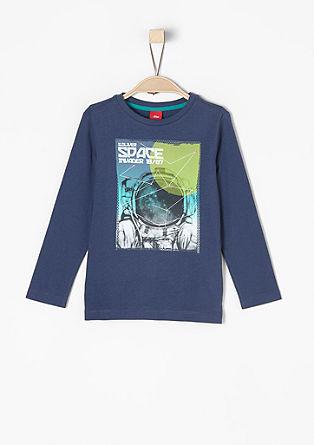 Majica dolg rokav s potiskom astronavta
