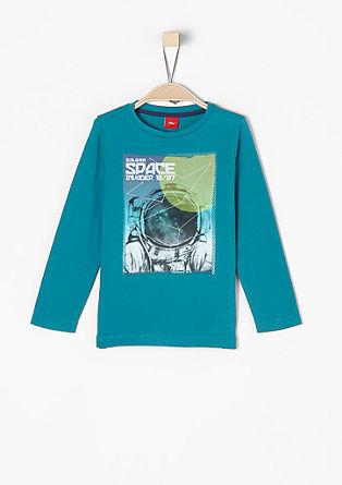 Langarmshirt mit Astronauten-Print