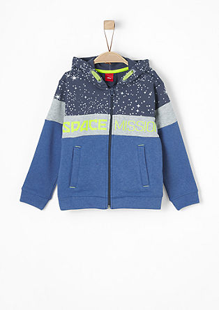Sweatjacke mit Space-Print