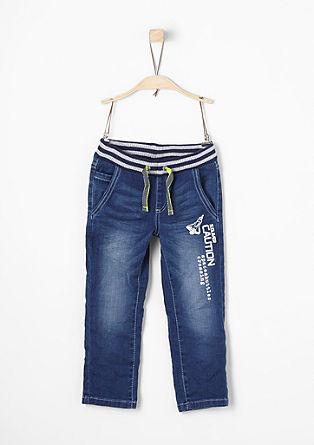 Jeans mit Rippbund