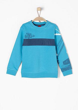 Sweatshirt mit Mesh-Streifen