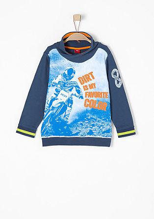 Print-Sweatshirt mit Turtleneck