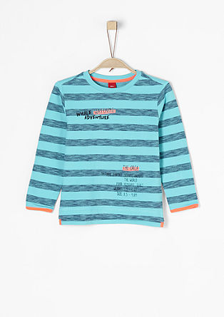 Bedruckter Ringelsweater