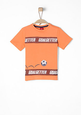 T-shirt with a print and mesh details from s.Oliver