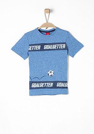 T-Shirt mit Print und Mesh-Details