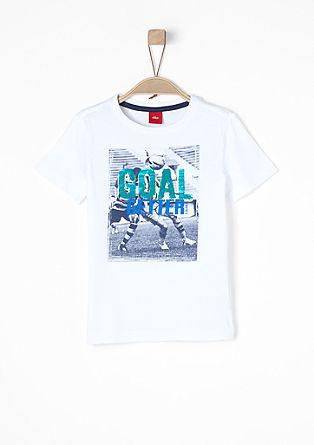 Printshirt mit Wendepailletten
