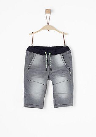 Pelle: Stretchige Denim-Shorts